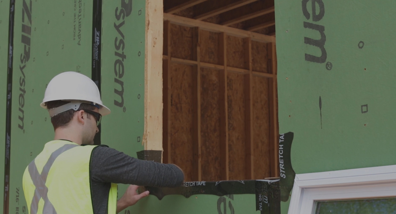 Zip wall video install avoiding window leaks